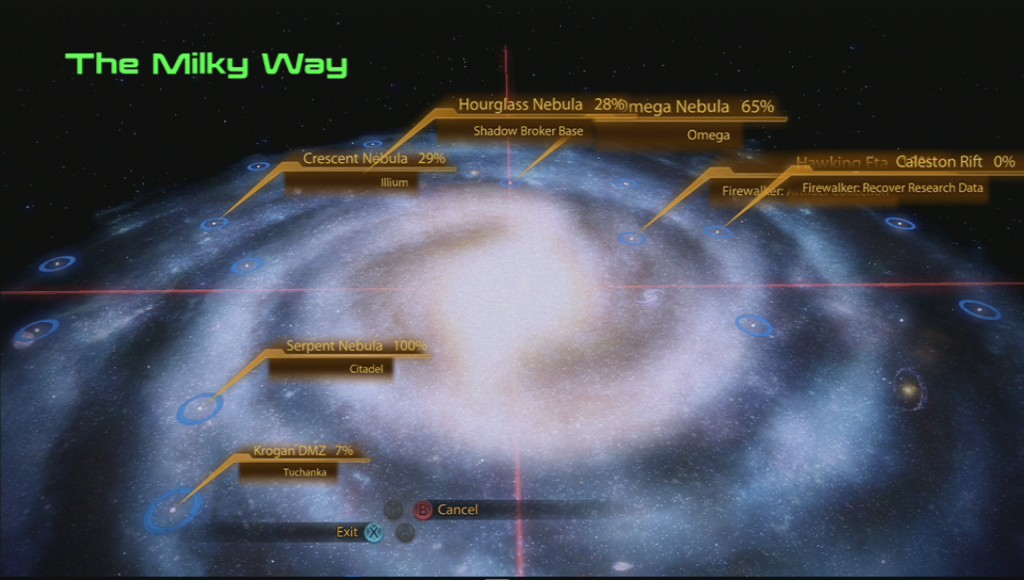 Mass Effect 2's Galaxy Map