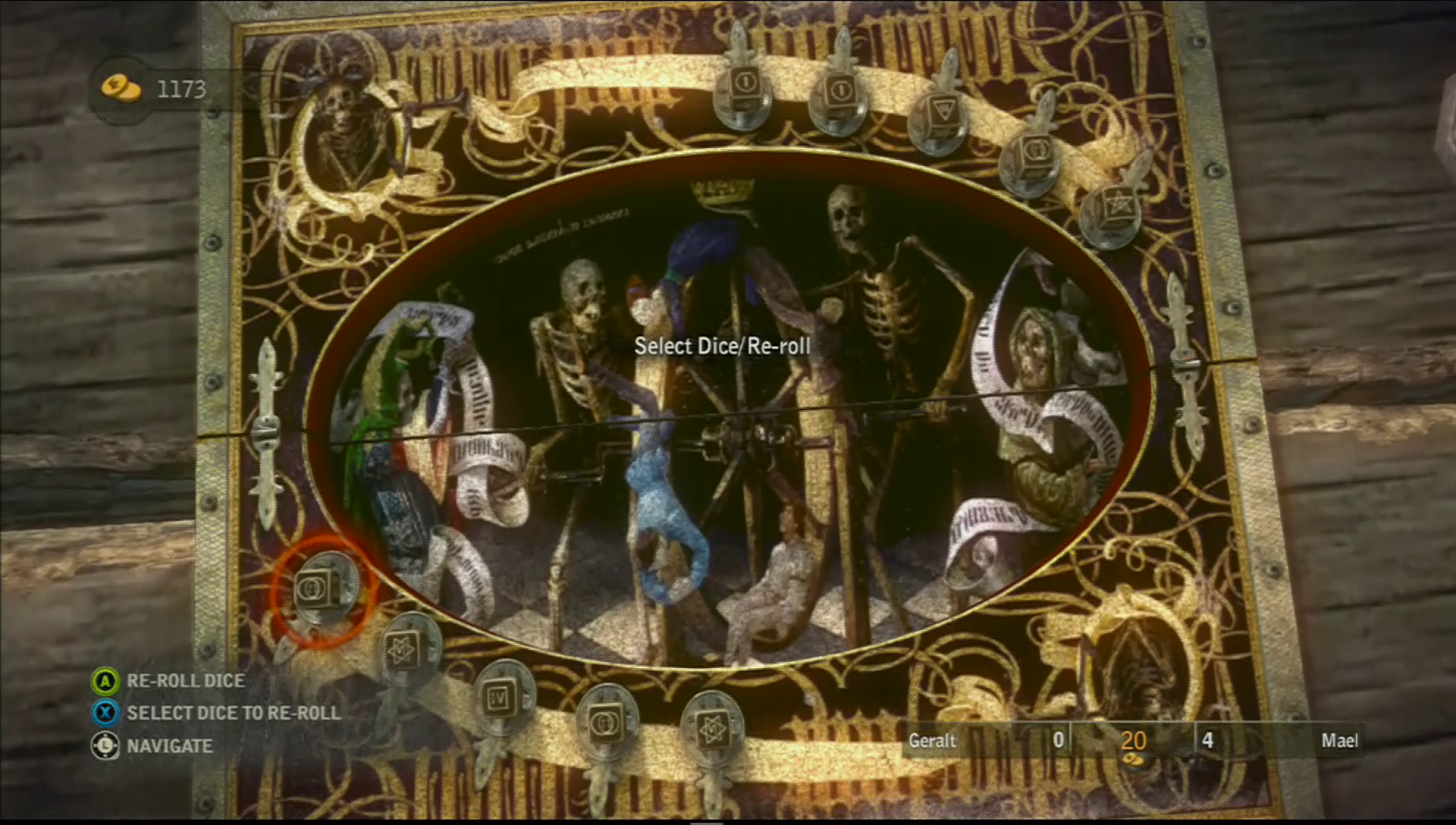 the witcher 2 dice game symbols that have an s