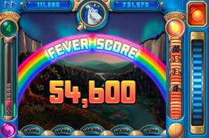 A score screen in Peggle