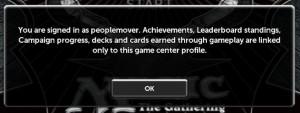 Magic 2013 Game Cener popup