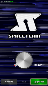Title screen for Spaceteam on iOS