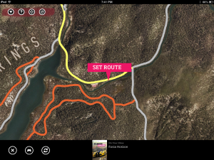 A view of the map in Forza Horizon via Xbox SmartGlass