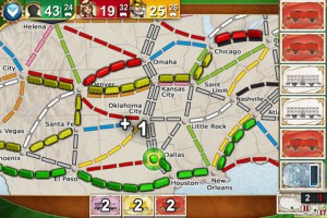 Zoomed-in display of Ticket to Ride Pocket