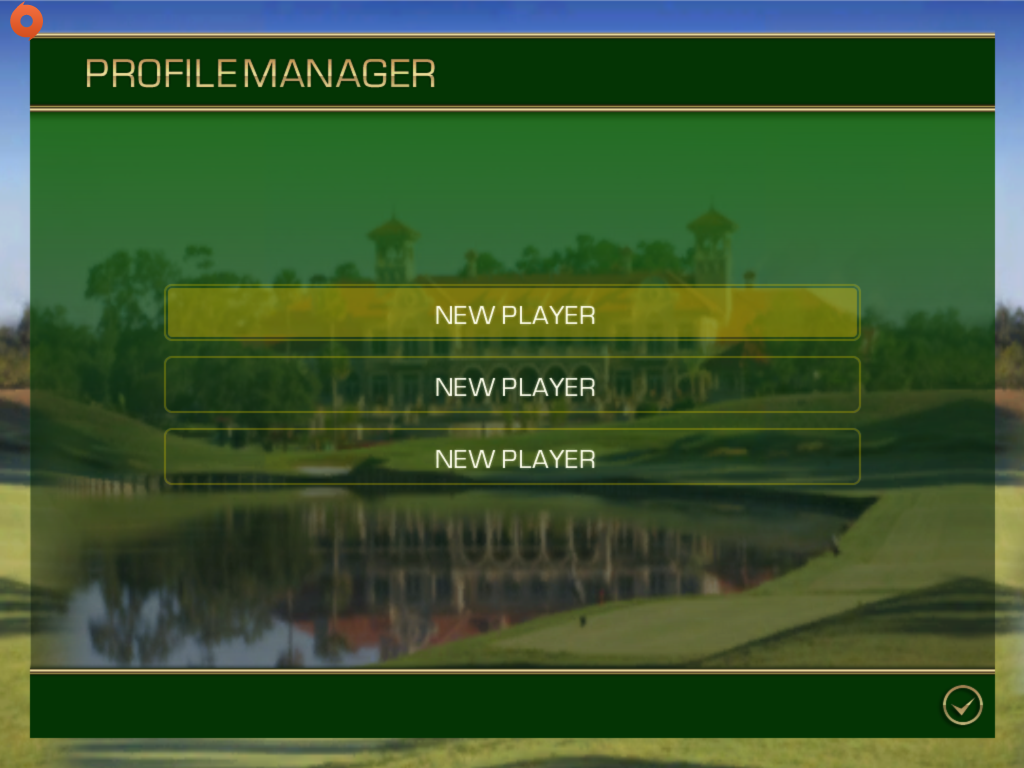 Pick a slot screen in Tiger Woods PGA Tour 12 for iOS